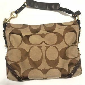 COACH  Carly Jacquard  hobo bag